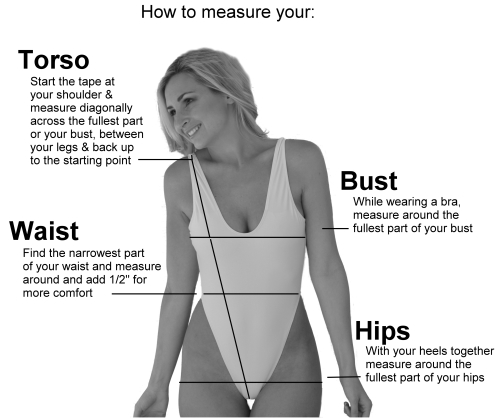 How To Measure Form One Piece Swimsuits