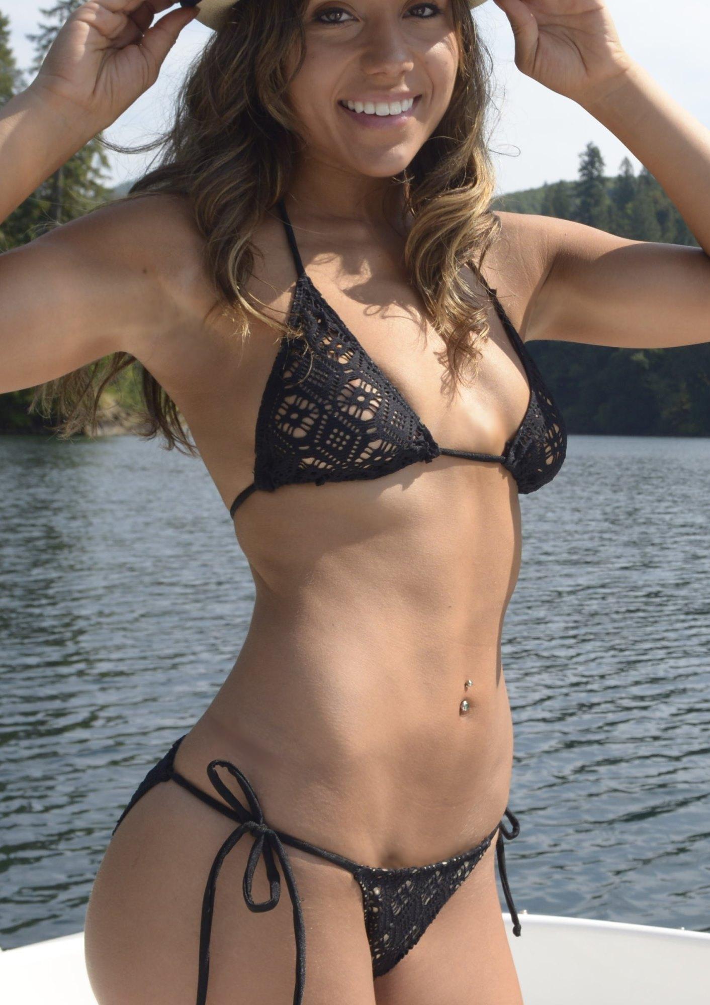 Black Crochet Bikini