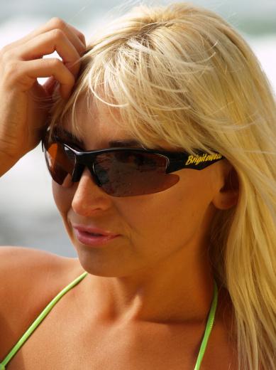 Brigitewear logo HD sunglasses black