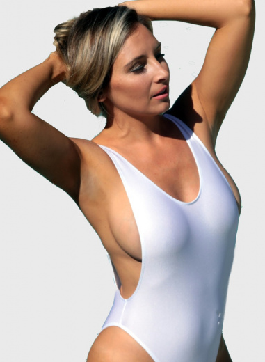 St Tropez Sheer Thong One Piece swimsuit