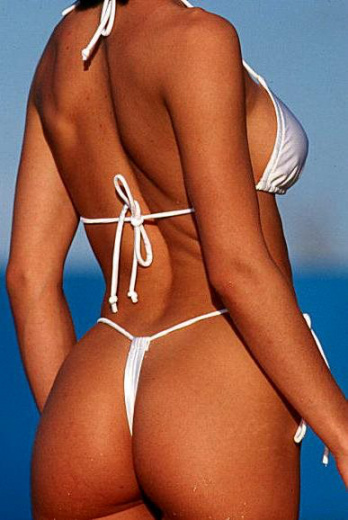 G-string bikini swimsuit in White