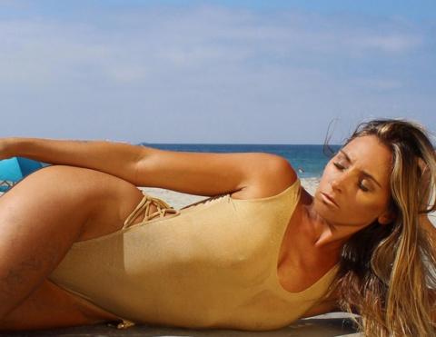 Desert Gold one piece swimsuit