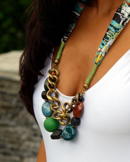 jewelry scarf beads brigitewear