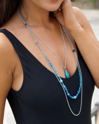 jewelry turquoise teardrop necklace brigitewear