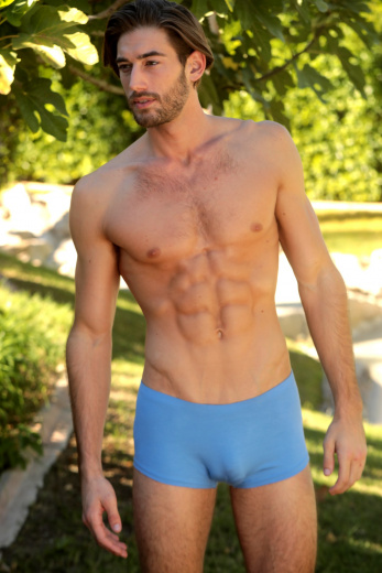Men's Low Cut Shorts in Sky Blue