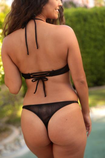 mesh sheer back thong bikini bottom