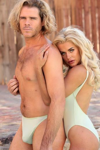 sheer azur thong swimsuit Kiwi