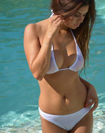 Sheer Cannes Bikini swimsuit for women In White
