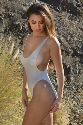 Side Boob Sheer When Wet One Piece