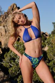 Keyhole Mesh Bikini Top