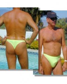 Sheer Azur Men's thong swimsuit   Brigitewear