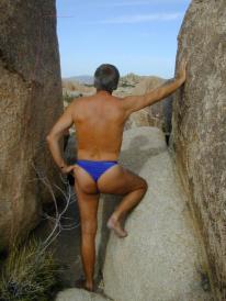Azur Men's Thong Swimsuit | Brigitewear