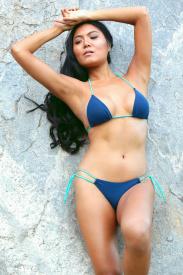 Bombshell lined bikini swimsuit top