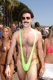 Borat on the Beach in Cannes