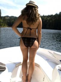 black crochet bikini rio