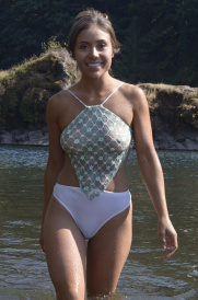 Diamond One Piece Rio bottom Swimsit