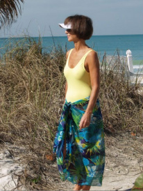 floral long sarong cover up for women brigitewear