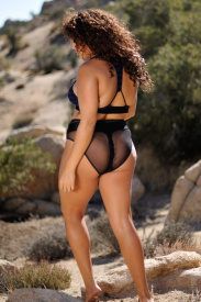 High Waist Faux Thong bikini bottom