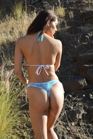 Mesh Hibiscus Thong Bottom