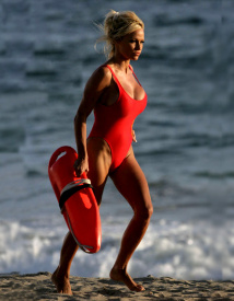 Classic Baywatch Style One Piece Swimsuit | Brigitewear