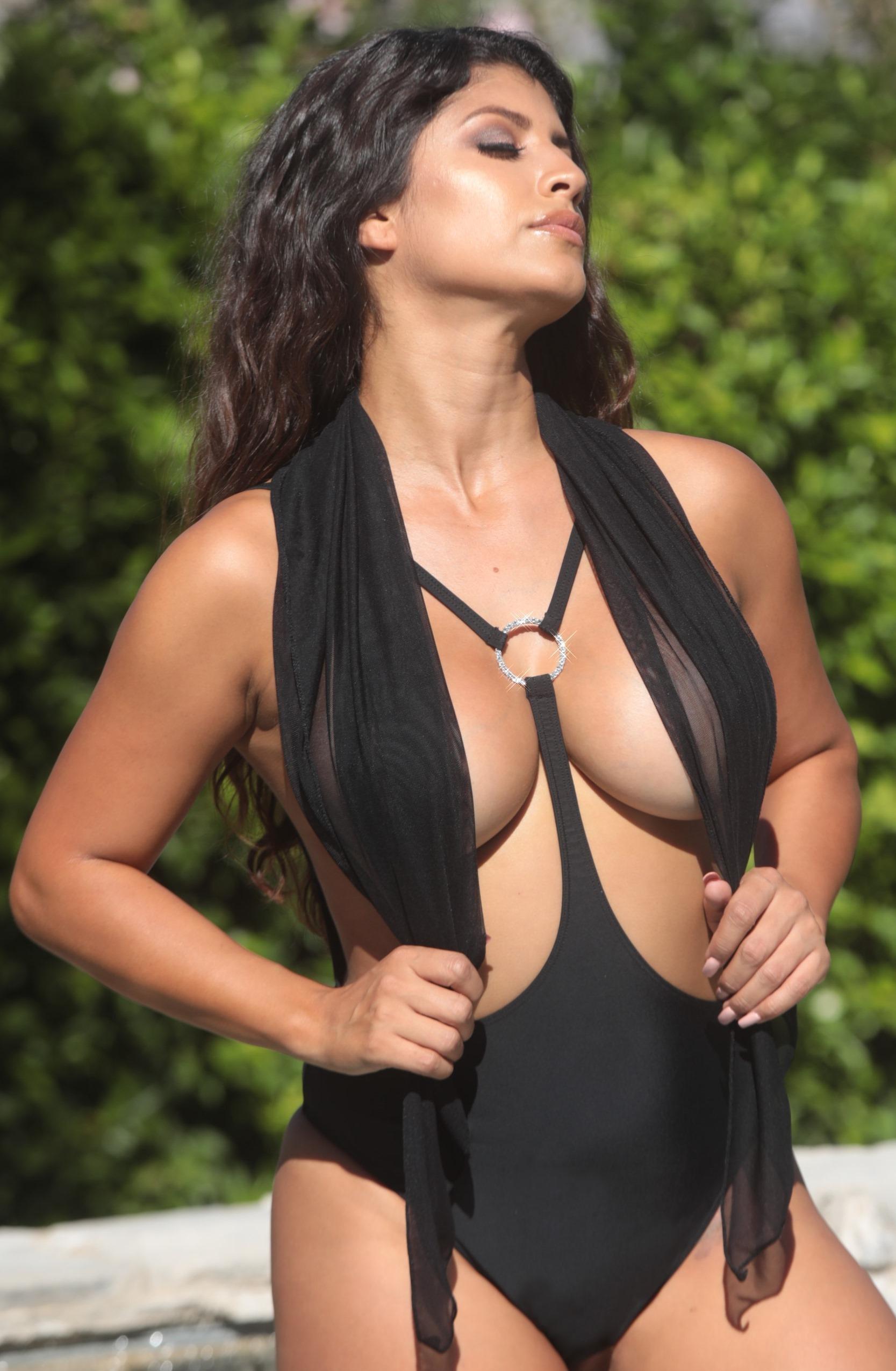 Topless Jewel One Piece Swimsuit
